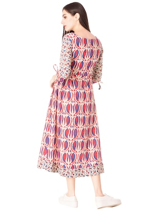 Printed a-line dress - 15612647 - Standard Image - 3