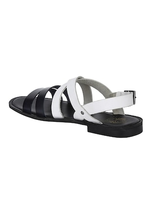 white Leather back strap sandals - 15613037 - Standard Image - 3