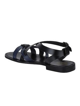 black Leather back strap sandals - 15613056 - Standard Image - 3