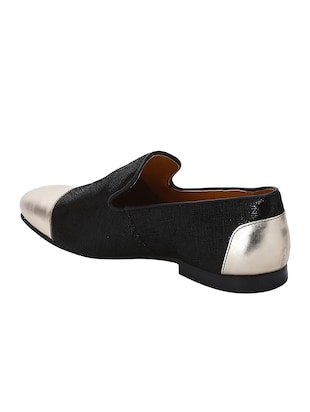 black Leather casual slip ons - 15613197 - Standard Image - 3