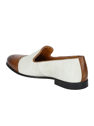 white Leather casual slip ons - 15613252 - Standard Image - 3
