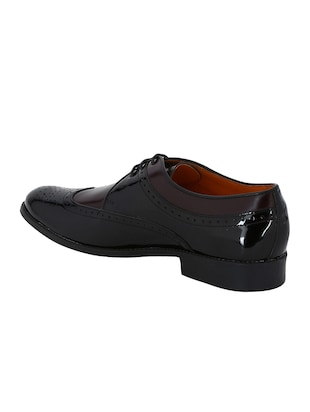 black Patent Leather lace-up derbys - 15613358 - Standard Image - 3