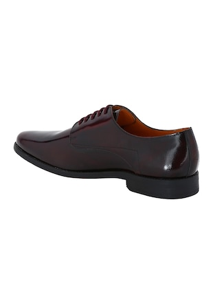 maroon Patent Leather lace-up derbys - 15613366 - Standard Image - 3