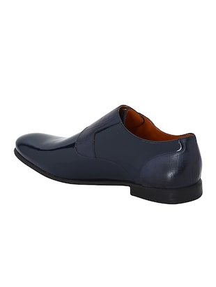 navy Patent Leather slip on monk straps - 15613371 - Standard Image - 3