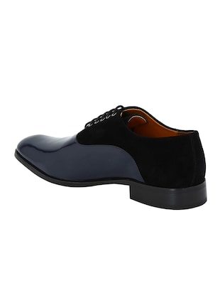 black Patent Leather lace-up oxfords - 15613383 - Standard Image - 3