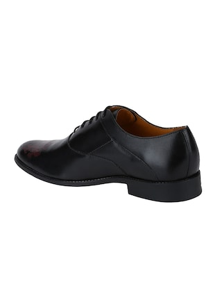 black Leather lace-up oxfords - 15613406 - Standard Image - 3