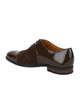 brown Suede lace-up oxfords - 15613413 - Standard Image - 3