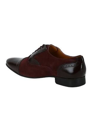 brown Suede lace-up oxfords - 15613421 - Standard Image - 3