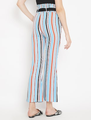 flared hem striped trouser - 15613513 - Standard Image - 3