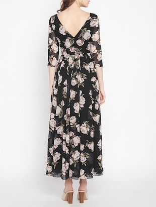pleated floral maxi dress - 15613523 - Standard Image - 3
