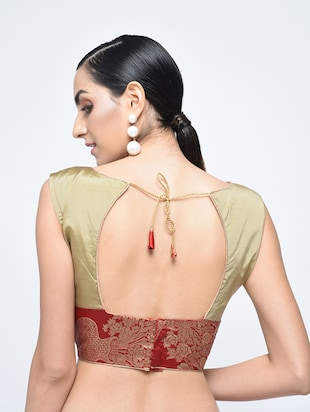 brocade blouse with drawstring - 15613764 - Standard Image - 3