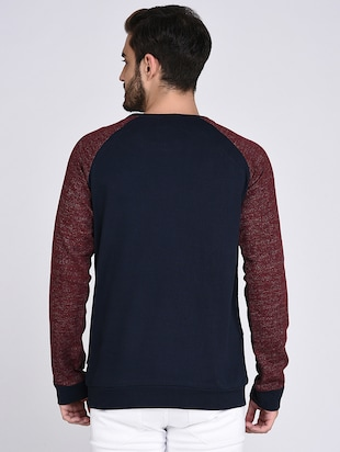 blue cotton raglan sweatshirt - 15614766 - Standard Image - 3