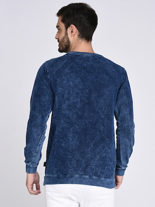 blue cotton sweatshirt - 15614773 - Standard Image - 3