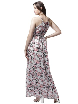 halter neck floral maxi dress - 15615409 - Standard Image - 3