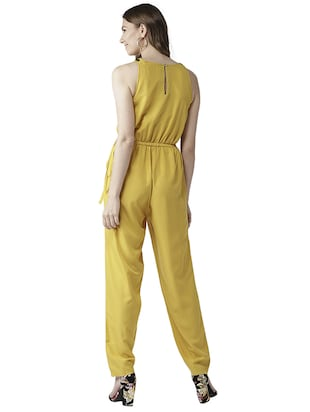 elasticated waist full length jumpsuit - 15615421 - Standard Image - 3