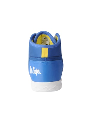 blue leatherette lace up sneakers - 15616052 - Standard Image - 3