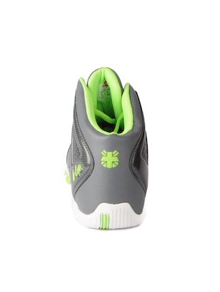 grey leatherette lace up sport shoes - 15616063 - Standard Image - 3