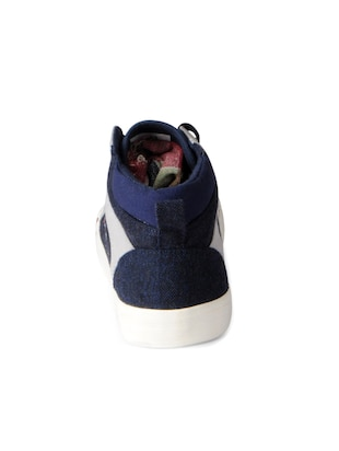 blue Canvas lace up sneakers - 15616078 - Standard Image - 3
