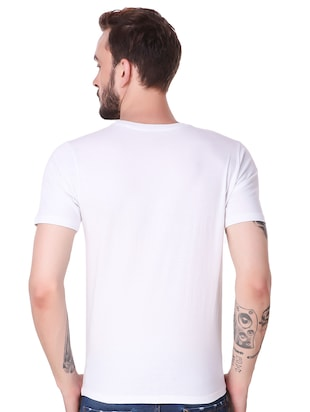 white cotton combos t-shirt - 15616127 - Standard Image - 3