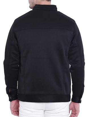 black nylon casual jacket - 15619877 - Standard Image - 3