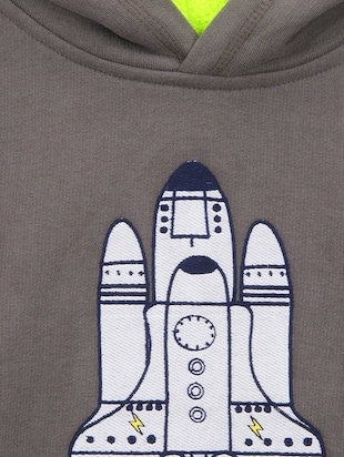 grey fleece sweatshirt - 15620471 - Standard Image - 3