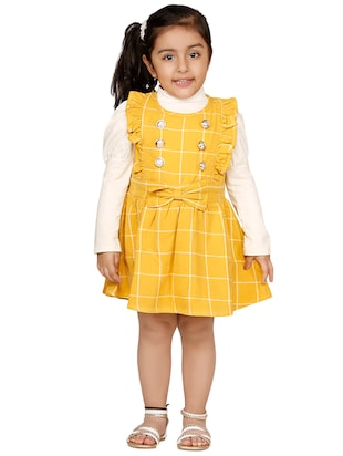 yellow cotton frock - 15620593 - Standard Image - 3