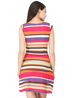 tiered striped a-line dress - 15620615 - Standard Image - 3