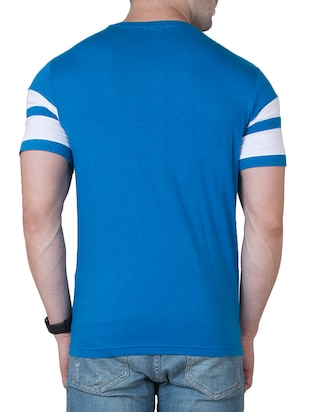 blue cotton cut & sew t-shirt - 15620673 - Standard Image - 3