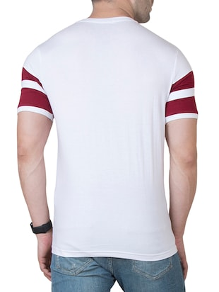 white cotton cut & sew t-shirt - 15620674 - Standard Image - 3