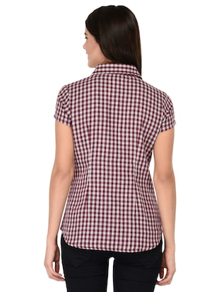 short sleeve shepherd checks shirt - 15621188 - Standard Image - 3