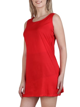 round neck a-line dress - 15621343 - Standard Image - 3