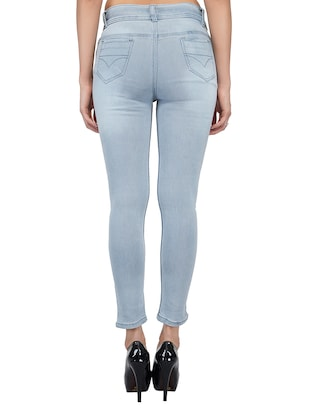 graphic patch mid rise jeans - 15621481 - Standard Image - 3