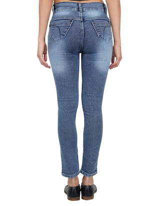 ankle length stone wash jeans - 15621494 - Standard Image - 3
