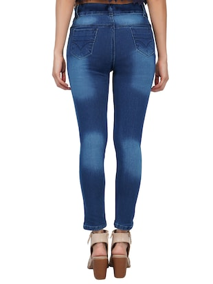 mid rise stone washed jeans - 15621496 - Standard Image - 3