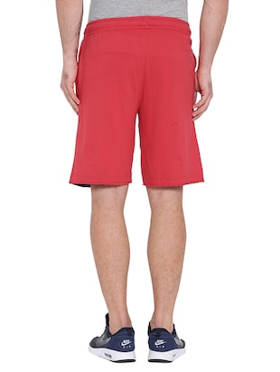 red cotton shorts - 15621601 - Standard Image - 3