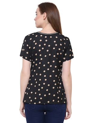short sleeved polka dots top - 15621614 - Standard Image - 3