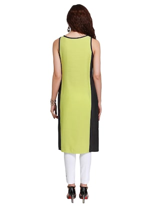 Straight embroidered kurta - 15621832 - Standard Image - 3