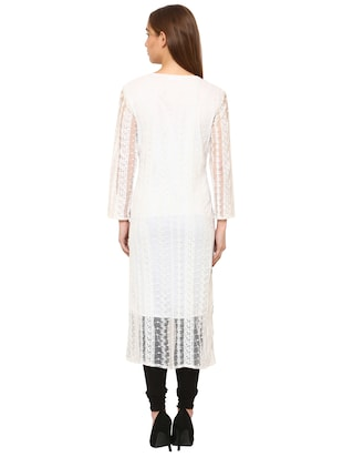 Piping straight kurta - 15625064 - Standard Image - 3