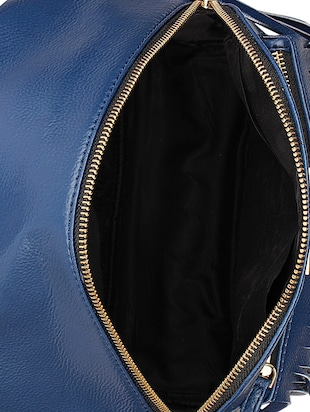 blue leatherette (pu) fashion backpack - 15625758 - Standard Image - 3