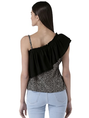 embellished ruffled detail top - 15627966 - Standard Image - 3
