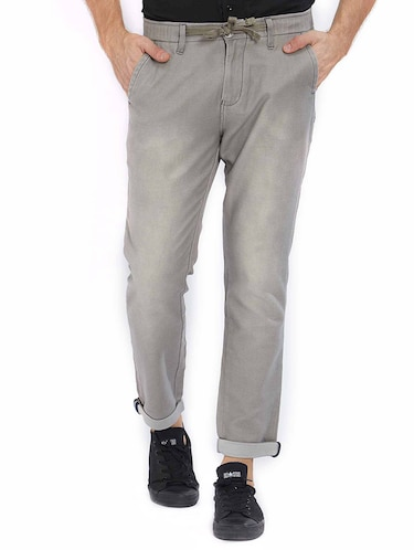 grey cotton washed jeans - 15637167 - Standard Image - 1