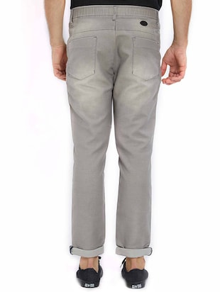 grey cotton washed jeans - 15637167 - Standard Image - 3