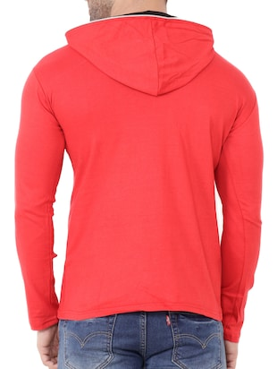 red cotton t-shirt - 15651671 - Standard Image - 3
