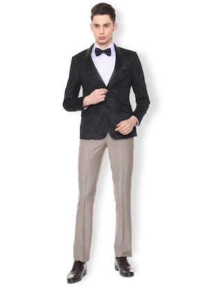 black polyester single breasted tuxedo - 15654081 - Standard Image - 3