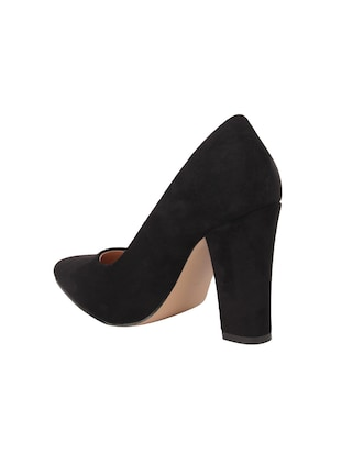 black suede slip on pumps - 15654436 - Standard Image - 3