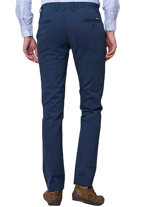 blue cotton chinos - 15655154 - Standard Image - 3