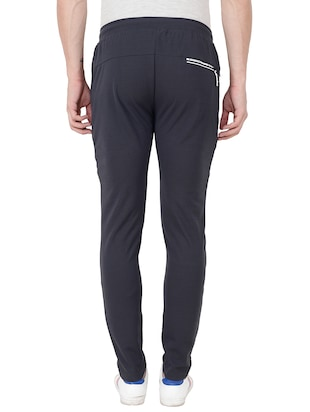 grey cotton  full length track pant - 15674033 - Standard Image - 3