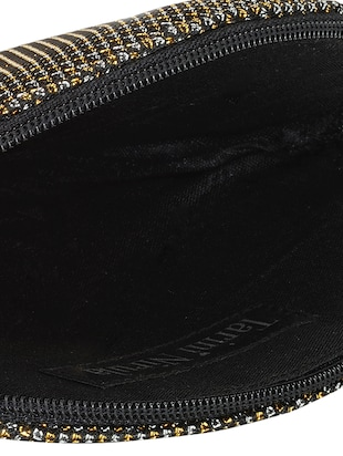 black polyester box clutch - 15674035 - Standard Image - 3