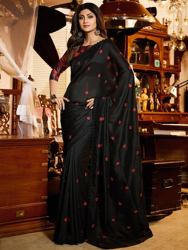 fdc1f436c8b2e9 Designer Collection Of Black Sarees Online