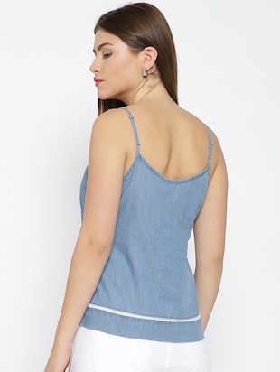 embroidered neck cami top - 15678525 - Standard Image - 3